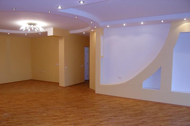 Ремонт в квартире, ремонт в новостройке, дизайн комнаты теплых оттенков