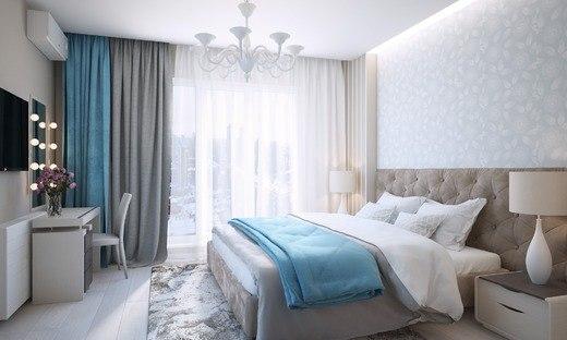 ремонт в спальни, теплые тона для спальни , модный дизайн спальни