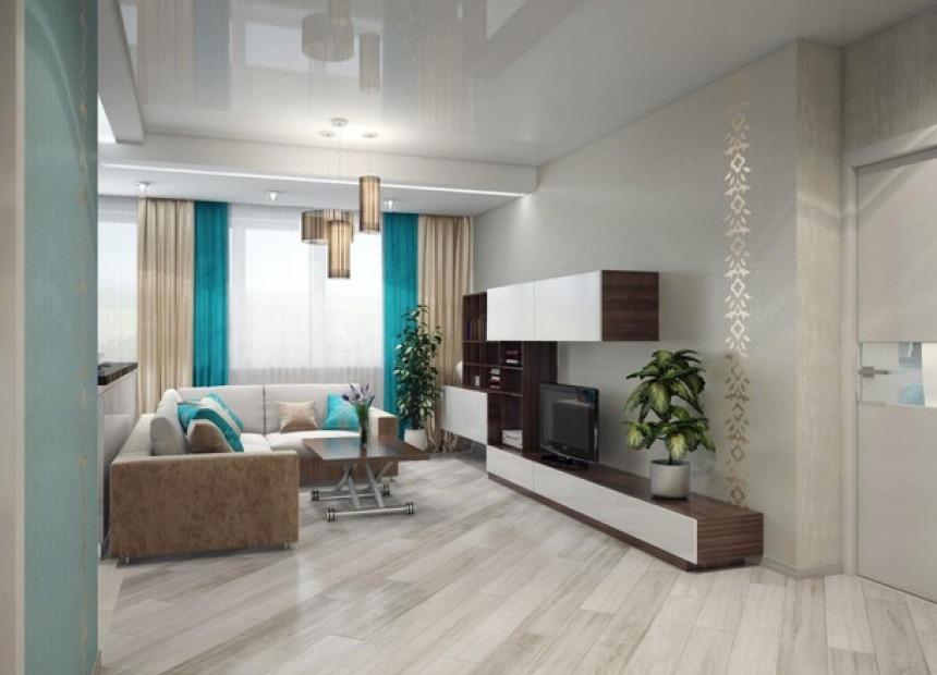 хорошо подобранный интерьер в гостиную, дизайн гостиной