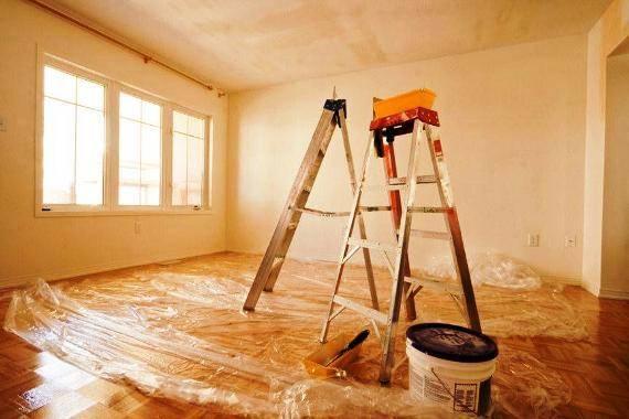 ремонт без отделки, ремонтные работы, строительные лестницы