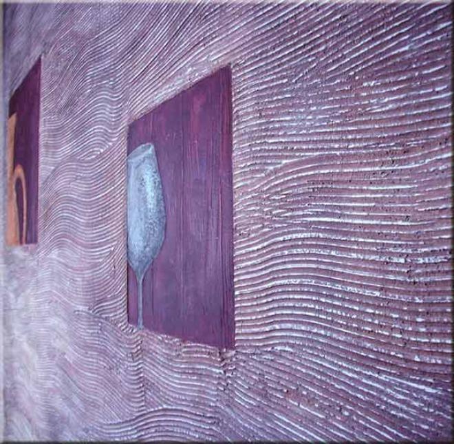 отдела стены штуатуркой,рельефная штукатура,фиолетовые стены