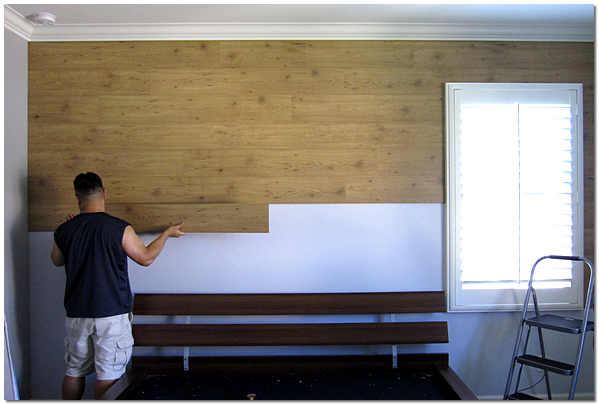 Отделка стен ламинатом , ремонт, укладка ламината на стены