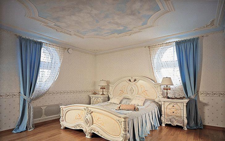Новый ремонт, ремонт квартир, стиль барокко, голубые шторы