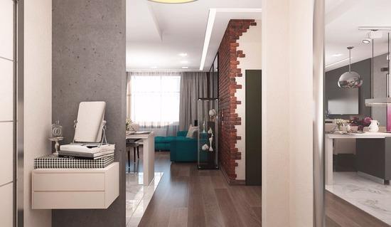 ремонт в стиле лофт, светлые стены, новая квартира, дизайн лофт
