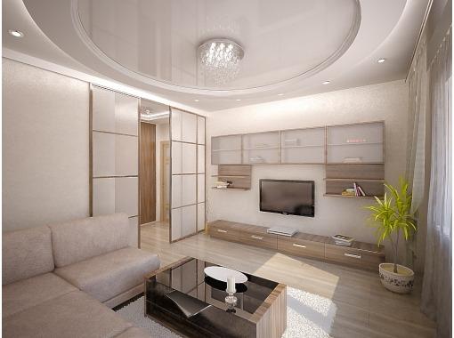 комната в современном стиле, ремонт зала