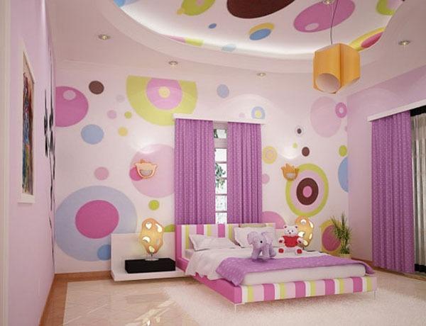 детская комната, разноцветная комната,