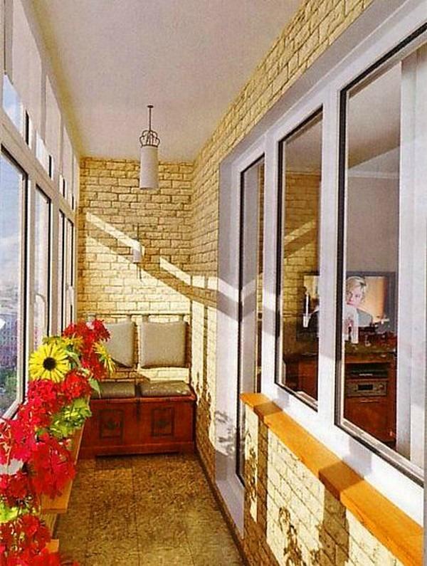 цветы на балконе, ремонт лоджии