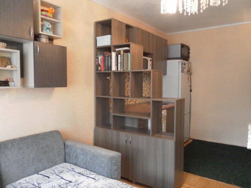 соблюдение рабочей зоны и кухни в одной комнате, комната в общежитие , разделение комнаты на зоны