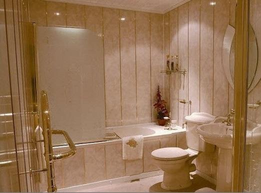 Ремонт ванной , пвх панели, стены из пластика